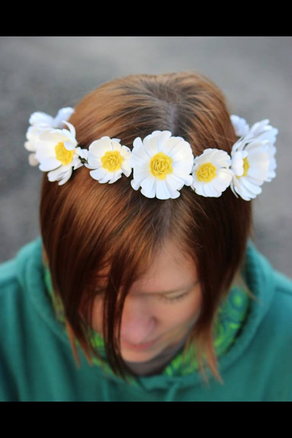 Mariage - Floral crown - Daisy chain - Paper flowers