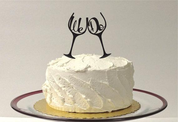 Mariage - Wedding Cake Topper - We Do inside Toasting Wine Glass Champagne Glass Wedding Cake Topper Toasting Glasses