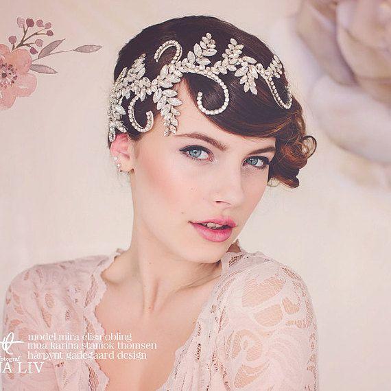 Mariage - Wedding Tiara. Statement Headpiece. Bridal Crystal Headpiece Tiara. The Audrey Crystal Bridal Headpiece #139
