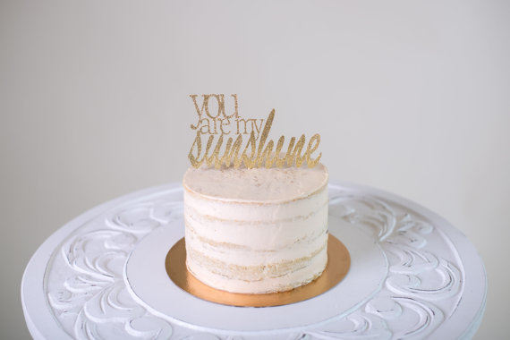 Mariage - You Are My Sunshine Cake Topper
