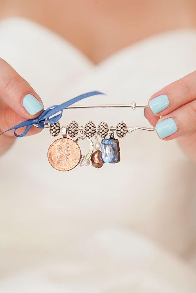 Wedding - Make Your Own Something Old, New, Borrowed, Blue Dress Pin!