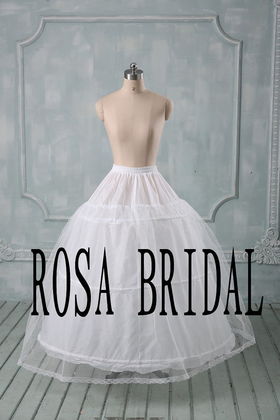Mariage - 3 Hoop 1 Layer Wedding Dress / Prom Gown Petticoat Crinoline Underskirt