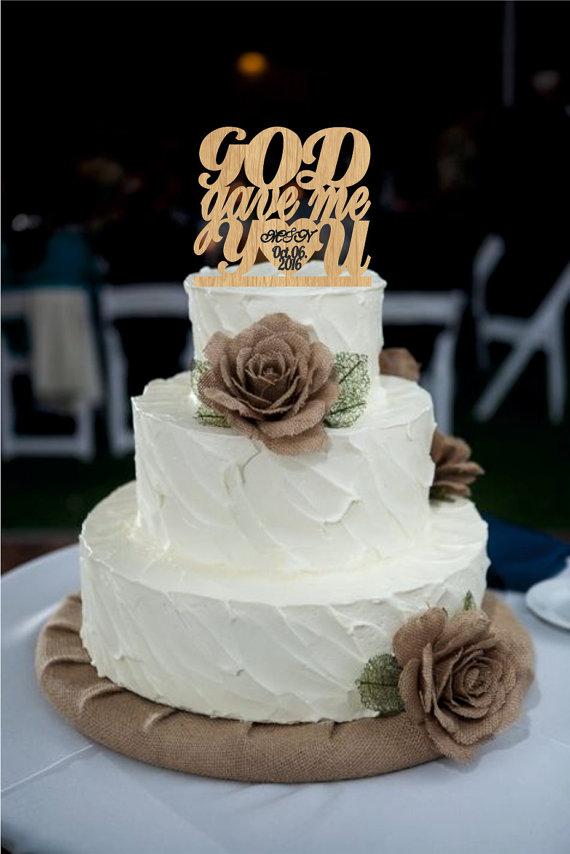 زفاف - Wedding Cake Topper, God Gave Me You CakeTopper, Wedding decoration, Cake decor