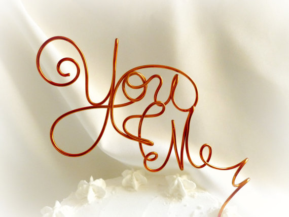 Hochzeit - Engagement Party Decorations, Couple's Shower You & Me Cake Topper