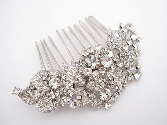 Wedding Hair Accessories Rhinestone Bridal Comb Piece Accessory Headpiece