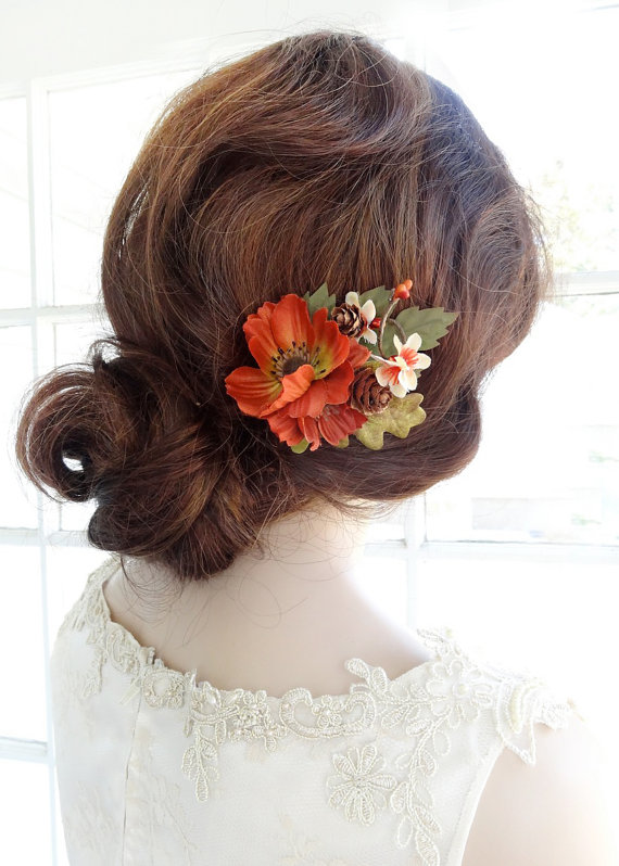 Fall Wedding Hair Clip, Fall Hair Accessories, Autumn ...