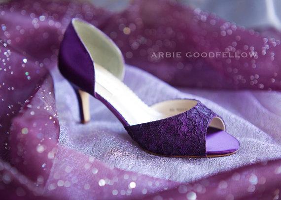 Wedding Shoes Aubergine Shoe Lace Shoes Purple Shoes Purple