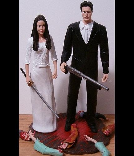 Mariage - Custom Dragon Hunters Wedding Cake Toppers Figure set - Personalized to Look Like Bride Groom from your Photos