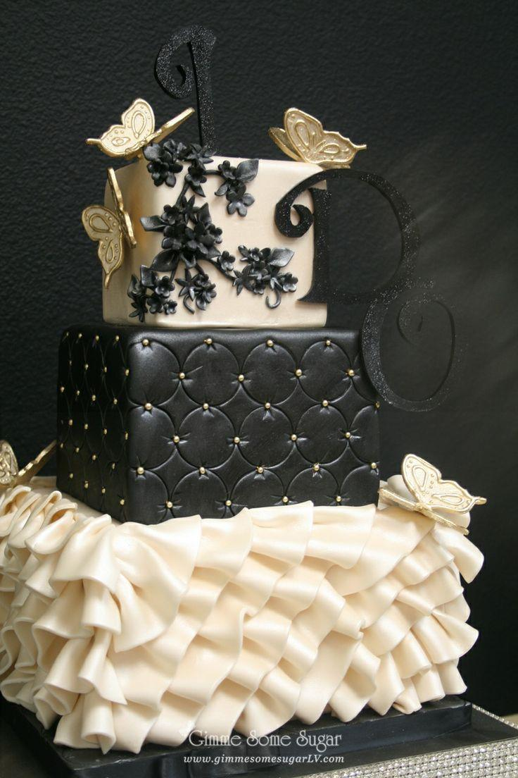 cake black white wedding cake ideas 2380636 weddbook. Black Bedroom Furniture Sets. Home Design Ideas
