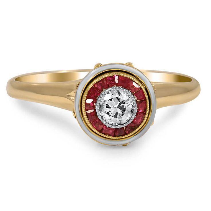 Свадьба - 14K Yellow Gold The Mellie Ring