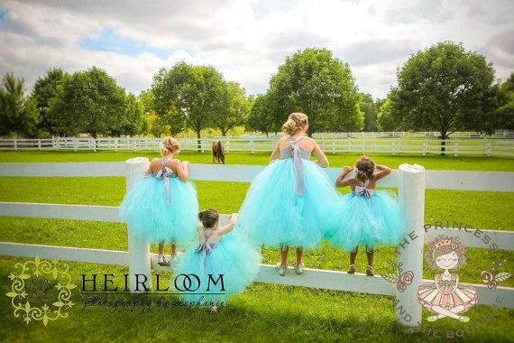 زفاف - flower girl dress, flower girl dresses, blue flower girl dress, baby dress, child dress, birthday dress, aqua dress, blue dress