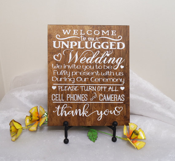 Wedding - Welcome To Our Unplugged Wedding Sign, Unplugged Wedding Ceremony Sign, Rustic Wedding Sign, Unplugged Wedding Sign, Wedding Sign