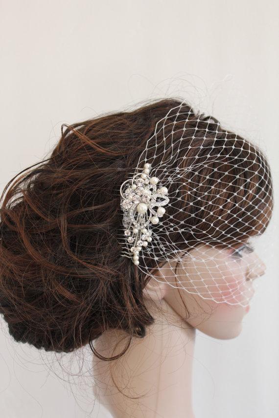 Wedding Birdcage Veil Bridal Hair Accessories Wedding Headpieces ...