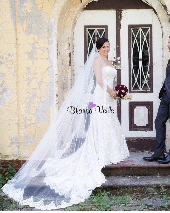 Mariage - Beautiful Lace Wedding Veil