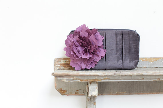 Wedding - Purple Wedding, Personalized wedding gift, Bridesmaid clutch, Bridesmaid purse, Bridesmaid gifts, Wedding clutch, Wedding gift, Wedding bag