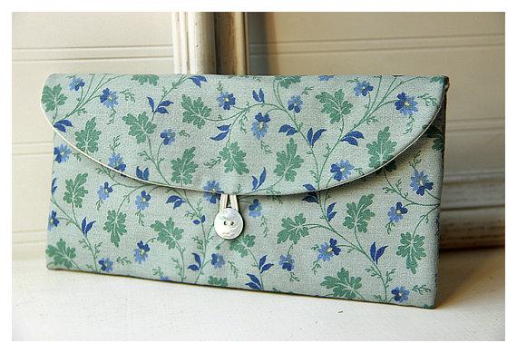 زفاف - woodland flowers Clutch Purse, moss Bridesmaid Clutch, bridesmaid gift, flowers purse, Wedding Gift, bridal clutch, wedding clutch