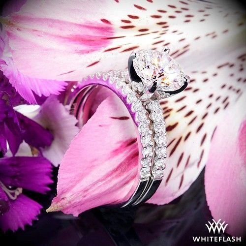 "Mariage - Platinum ""Petite"" Diamond Engagement Ring And Wedding Ring"