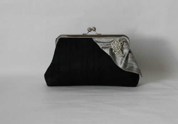Wedding - Wedding Clutch - Bridal Clutch - Wedding Purse - Bridesmaids Clutch - Bridesmaid Gifts - Black Clutch Purse - Wedding Gifts - Giselle Clutch