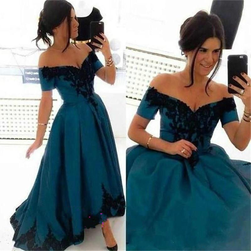 4bd7c36f70 High Low Hunter Evening Dresses Applique 2015 Off Shoulder Short Sleeve  Train Lace Long Party Prom Formal Gowns Runway Fashion Ball Custom Online  with ...
