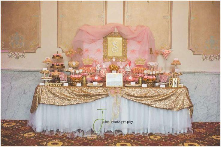 Pink And Gold Princess By Treat Me Sweet Candy Buffets Birthday ...