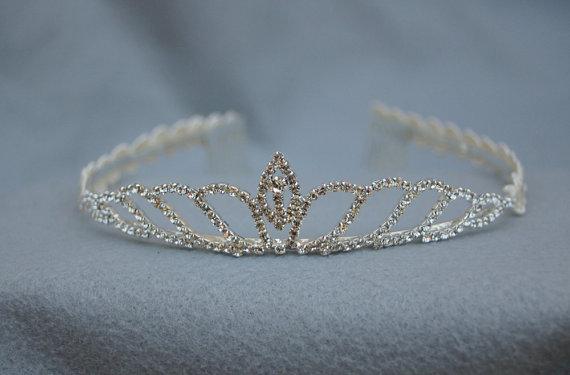 Wedding - Girls Tiara /  Girls Rhinestone Tiara / Princess Tiara / Flower Girl Tiara / Frozen Princess Tiara / Tiara