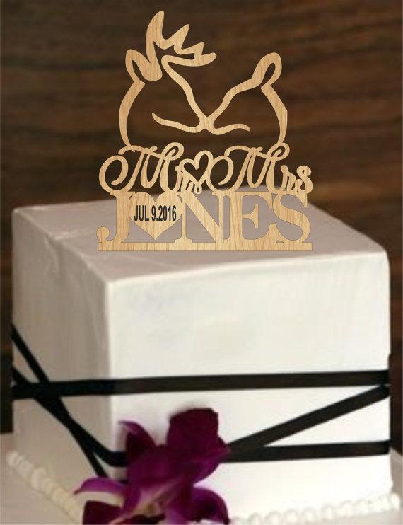 زفاف - Buck and Doe Wedding Cake Topper, Deer Wedding Cake Topper, Personalized Cake Topper,rustic Cake Topper,Custom Cake Topper,Country Topper