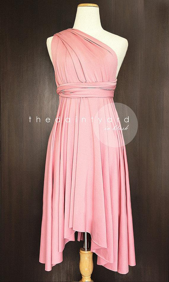 زفاف - Blush Bridesmaid Dress Convertible Dress Infinity Dress Multiway Dress Wrap Dress Wedding Dress Maid of Honor Dress Twist Dress Prom Dress