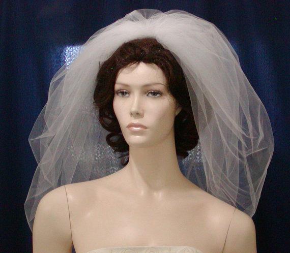 Mariage - Elbow Length Bubble Bridal Veil