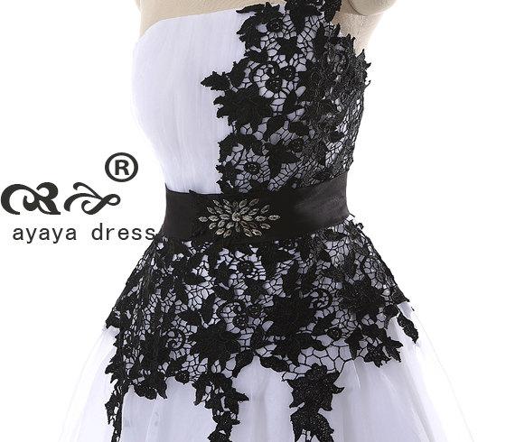 Short White Wedding Dress Black Lace : Short bridesmaid dress cheap dresses white