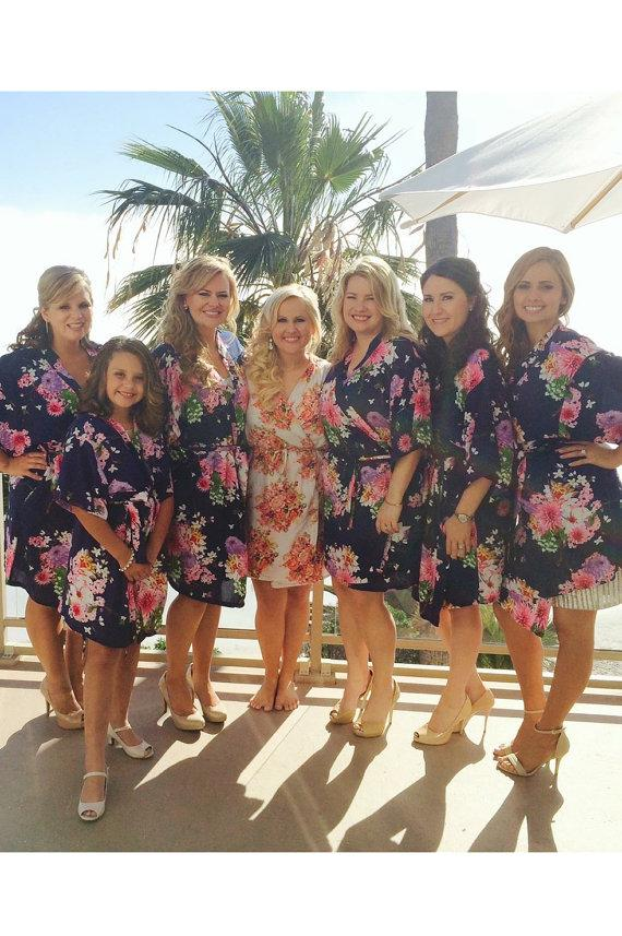 cotton bridesmaid robes cheap unique bridesmaid gifts navy kimono bridal shower gift ideas bridal party not set of 7 sjp00