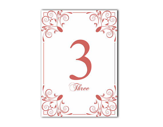 Table Numbers Wedding Table Numbers Printable Table Cards ...