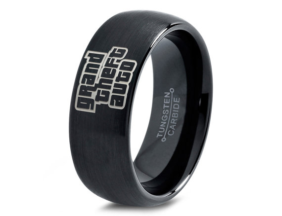 Grand Theft Auto Ring Gamer Ring Jewelry Fanatic Geek Girls Teen
