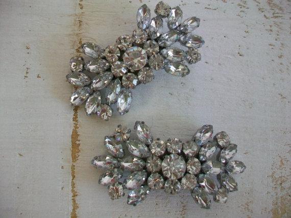 Boda - Wedding Shoe Clips - Sparkling Crystal Shoe Clips - Handmade For Wedding Shoes - Rhinestone Shoe Clips - Clips Designed By Parisxox