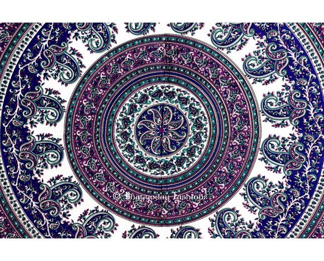 grey and blue psychedelic tapestry in round 2381810 weddbook. Black Bedroom Furniture Sets. Home Design Ideas