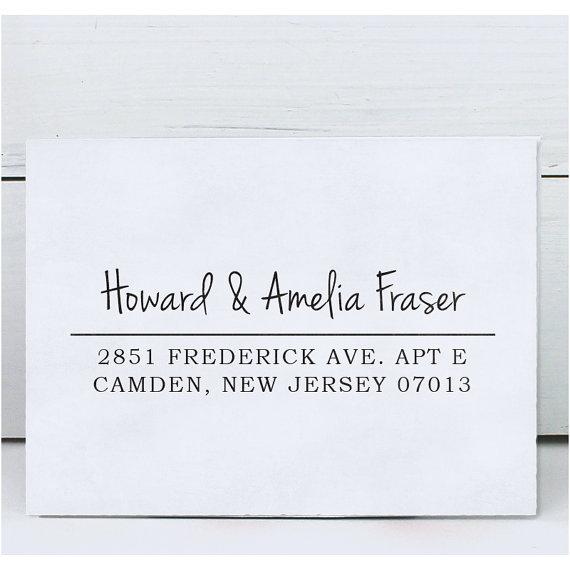 زفاف - Custom Rubber Stamp - Eco Mount Address Stamp  - Amelia
