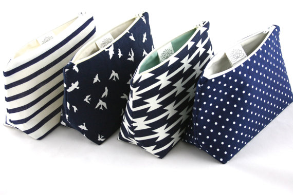 Mariage - Six Navy Blue Bridesmaid Gifts in Bulk: Wedding Party Favors, Mix and Match!