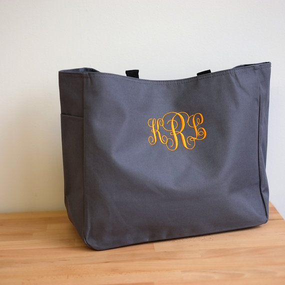 Mariage - 7 Personalized Bridesmaid Gift Tote Bags Monogrammed Tote, Bridesmaids Tote, Personalized Tote