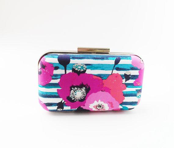 Mariage - clutch purse, bridal accessories, bridesmaids gift, navy clutch, pink clutch, navy bridesmaids, navy weddings, wedding clutches, clutches