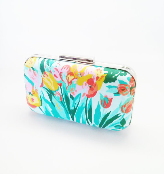 Mariage - wedding clutch, floral clutch, bridal accessories, mint weddings, mint bridesmaids clutch, mint bridesmaids, mint bridesmaid gifts, floral
