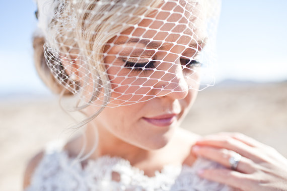 Wedding - Standard 9 inch Birdcage Veil - Bandeau Style - Custom Colours Available