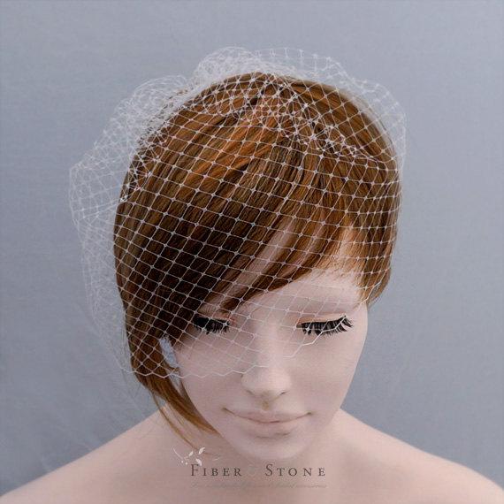 Mariage - Add a Birdcage Veil, Bird Cage Veil, Short Veil, Bridal Veil, Blusher Veil, Wedding Veil Wedding Hair Accessory Bridal Hair Accessory