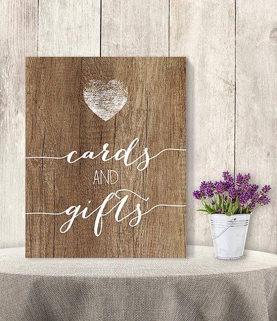 Wedding Gift Table Sign Ideas : And Gifts / Wedding Gift Table Sign DIY, Presents/ Rustic Wood Sign ...