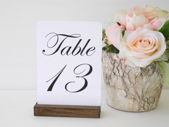 rustic chic wedding table number holders 5inch set of 15