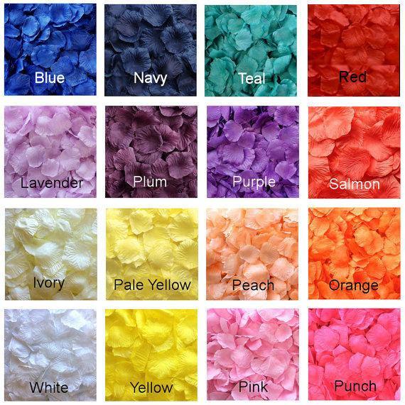 Mariage - 500 Silk Rose Petals - 17 Colors Available, Silk Petals, Artificial Petals, Fake Rose Petals, wedding aisle runner petals, flower girl toss