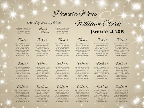 Diy Printable Wedding Seating Chart   Weddbook