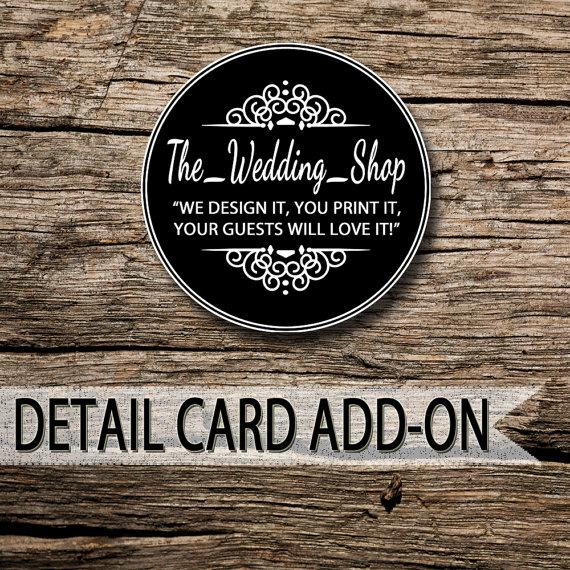 Свадьба - Matching Printable Wedding Insert Cards: Detail / Information / Gift Registry / Accommodation / Direction Card Add-On By The_Wedding_Shop