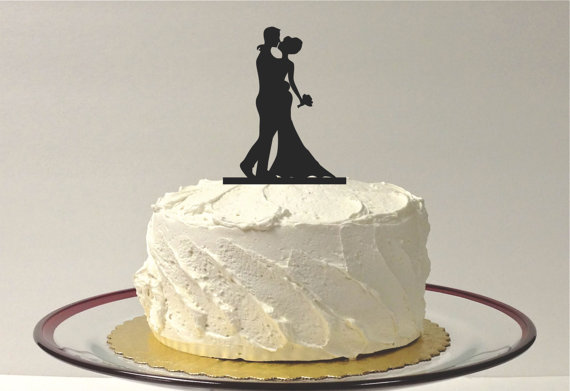 Mariage - Silhouette Cake Topper Bride and Groom Silhouette Wedding Cake Topper Bride and Groom Cake Topper