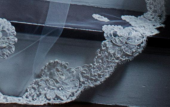 زفاف - Vintage French Alencon Swatch Sample