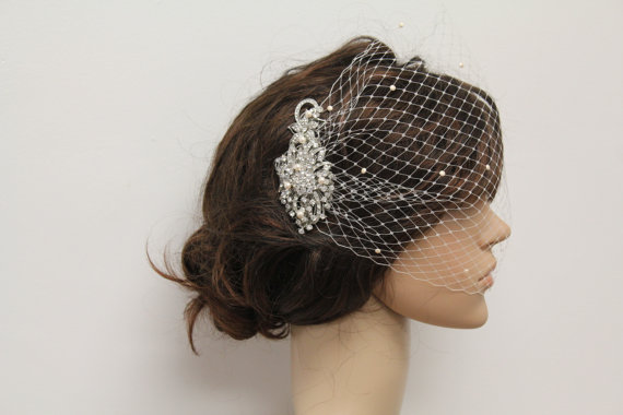 Mariage - Wedding Hair Accessories Bridal Birdcage Veil Wedding Accessories Bridal Hair Accessories Wedding Birdcage Veil Bridal Veil Bridal Hair Comb