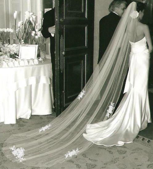 Mariage - Applique Lace Wedding Veil